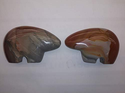 Madagascar Minerals Desert Jasper Fetish Bear Carving