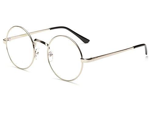 Bonvince Non-Prescription Round Circle Frame Clear Lens Glasses - Square Glasses Circle