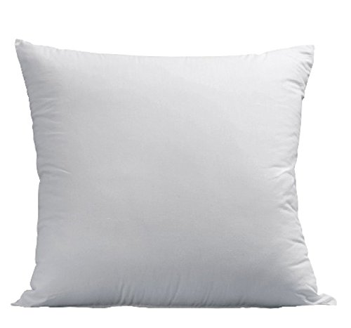 Euro Pillows 26x26 Square Pillow Insert for Decorative Bed Pillow Sham - Hypoallergenic, Down Alternative Fill - Crafted in the USA by Deluxe Home Basics (1 Pack)