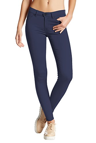 HyBrid & Company Womens Super Stretch Comfy Skinny Pants P44876SK Navy Large by HyBrid & Company