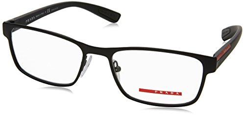 Prada PS50GV Eyeglass Frames DG01O1-53 - Black Rubber PS50GV-DG01O1-53 by Prada Linea Rossa