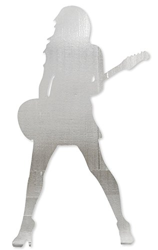 TCDesignerProducts Silver Strings Guitarist Life Size Cardboard Standup Party Decoration