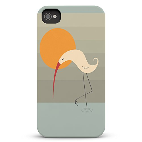Koveru Back Cover Case for Apple iPhone 4/4S - Swan meditating on one