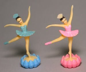 [Ballerina with Rosebud Cupcake Toppers - 24 pcs by Bakery Supplies] (Dance Studio Costumes Companies)
