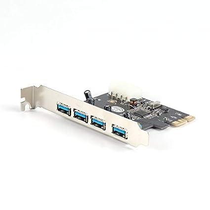 Adaptador de tarjeta PCI PCI-E PCI-E superspeed USB 3.0 de 4 ...