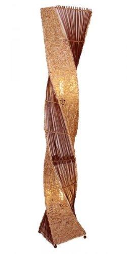 Deko-Leuchte MARCO, hohe Stehlampe aus Natur-Material, gedrehte Form , Grösse ca. 150 cm