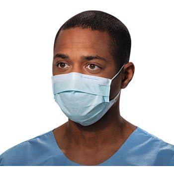 Halyard Tecnol Procedure Mask/Pleat/Earloops, Blue,(47080) 50 Count