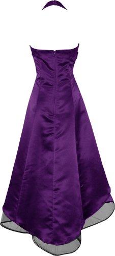 Satin Halter Dress Prom Bridesmaid Holiday Junior Plus Size, 3X, Purple