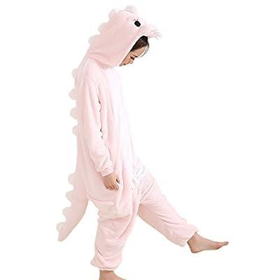 Afoxsos Adult Animal Pajamas Costume - Plush One Piece Cosplay Dinosaur Onesies Costume
