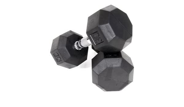 Amazon.com : Ader Octagon Rubber Coated Dumbbell 15, 20, 25, 30 Lbs 4 Pairs 180 Lb : Sports & Outdoors