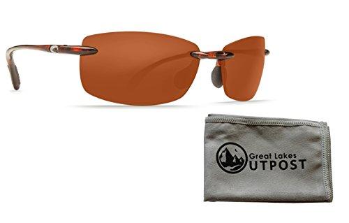 Costa del Mar Ballast Amber 580P Tortoise Frame Sunglasses w/Cloth (Sunglasses Ballast)