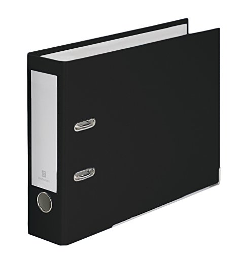Bindertek 2-Ring 3-Inch Premium Linen Textured Top File Binder, For Top-Punched Paper, Black (TFN-BK)
