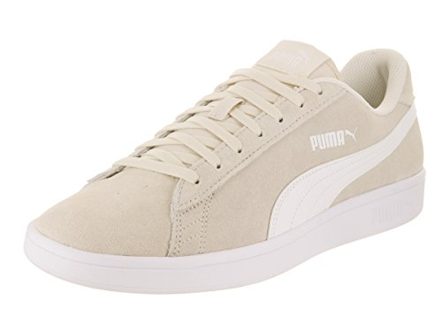 PUMA Men's Smash v2 Lace Up Fashion Sneaker Birch/Wht 10.5 M US