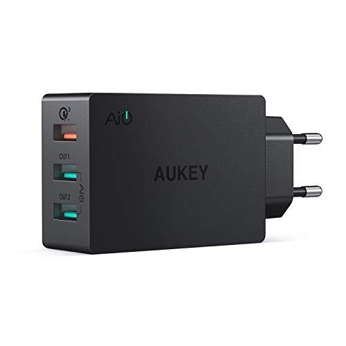 AUKEY Quick Charge 3.0 USB Ladegeraet 3 Ports USB Netzteil mit AiPower Tech...