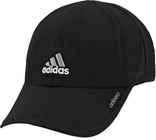 adidas Mens Adizero II Cap, Black/Aluminum 2/White, ONE SIZE
