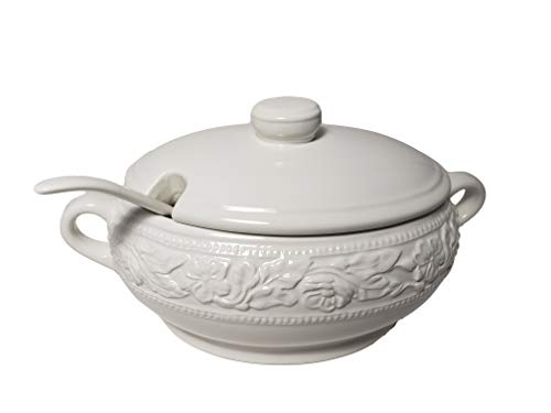 Dolomite Soup Tureen with Ladle 67.6 oz