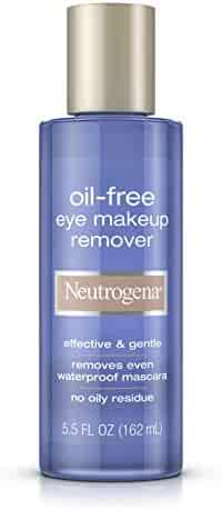 Neutrogena Gentle Oil-Free Eye Makeup Remover & Cleanser for Sensitive Eyes, Non-Greasy Makeup Remover, Removes Waterproof Mascara, Dermatologist & Ophthalmologist Tested, 5.5 fl. oz