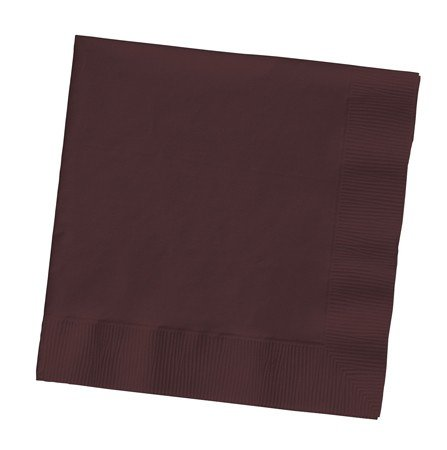 100 gorgeous CHOCOLATE BROWN lunch/dinner napkins for wedding/party/event, 2ply, disposable,