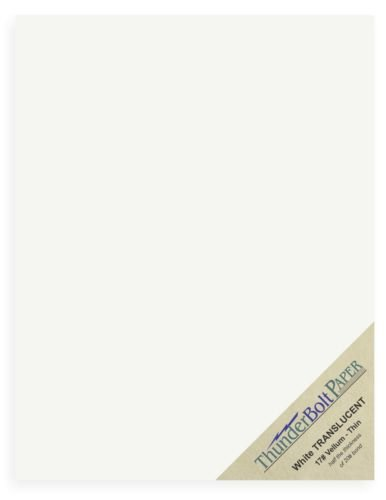 150 Soft Off-White Translucent 17# Thin Sheets - 8.5