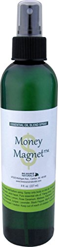 Money Magnet Essential Oil Blend Aromatherapy Spray with Gem