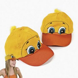 (Fun Express - Luau Ducky Shaped Baseball Cap for Party - Apparel Accessories - Hats - Baseball Caps - Party - 1)