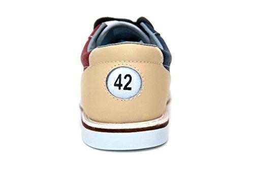 Bowlio Pro Series Storm - Chaussures de bowling en cuir noir et blanc - Adulte et enfant