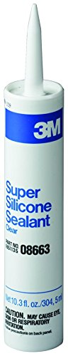 (3M 08663 Clear Super Silicone Seal Cartridge - 1/10 Gallon)