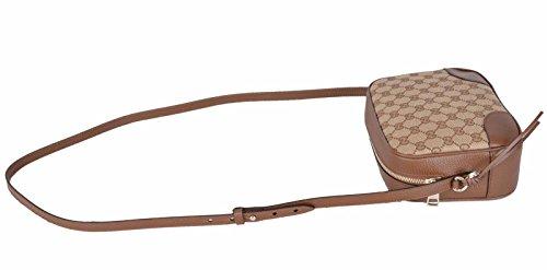 567359739ec Gucci Women s Beige Canvas Leather GG Guccissima Bree Crossbody Purse