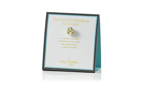 Zinc Alloy Thank You For Helping Us Tie The Knot Wedding Brooch Pin
