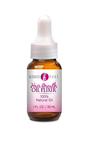 Natural Hair Growth Oil Elixir, Hair Loss Treatment for Women, w/Essential Oils, 1 fl oz (Best Shampoo For Alopecia In India)