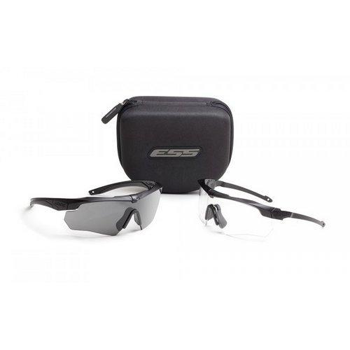 ESS Sunglasses Crossbow Suppressor 2X+ Kit Black w/Clear/Gray/Hi-Def Copper ()