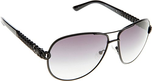 01b GU7404 Shiny Black Sonnenbrille Smoke Guess Gradient qgRE5