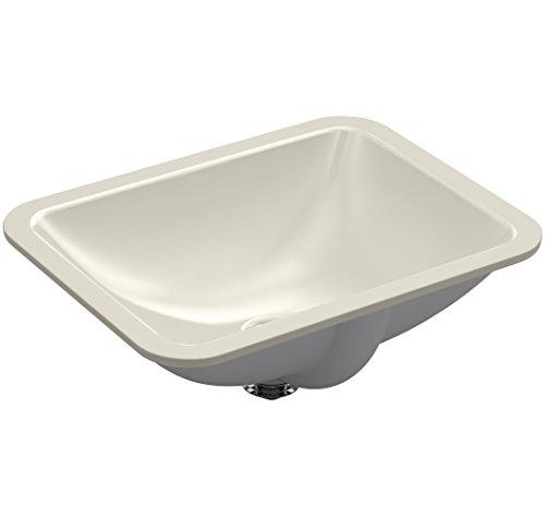 (KOHLER K-20000-G9 Caxton Rectangle 20-5/16 in. x 15-3/4 in. Undermount Bathroom Sink, Sandbar,)