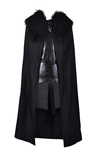 Crystal Dew Jon Snow Costume Cosplay Knights Watch Costume Cape for Men and Kids