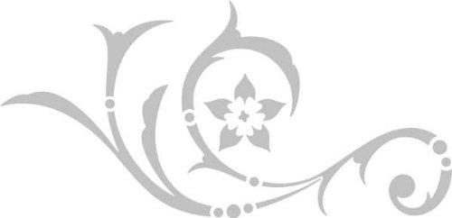 WANDTATTOO / Wandaufkleber - e25 stylisches Tribal Blätter Blumen Pflanzen Ranke 240x116 cm - glasdekor