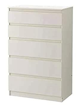 Juego de 5 cajones Ikea Kullen, madera, Blanco, 70x112cm: Amazon ...