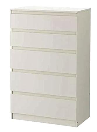 Juego de 5 cajones Ikea Kullen, madera, Blanco, 70x112cm ...