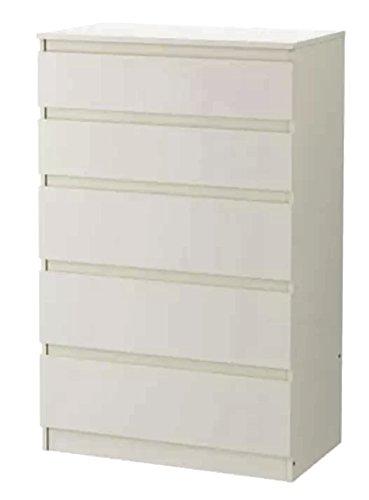 Ikea, cassettiera Kullen, con 5 cassetti, Legno, White ...