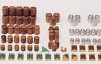 Price comparison product image Preiser 17105 Beer Barrels & Crates w / Bottles HO Scale Scenery Set
