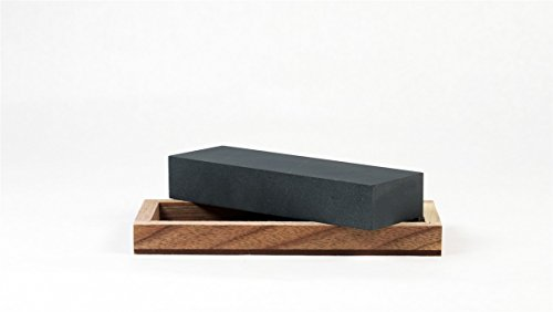 RH Preyda Surgical Black Arkansas Bench Stone with 4oz Cutlery Mania Brand Mineral Oil by RH Preyda