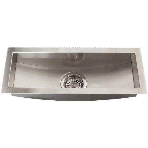 Bar Trough - Stainless Steel 16 Gauge Undermount Kitchen Bar Trough Sink Strainer Square