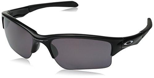Interchangable Lens Sunglasses - Oakley Men's Quarter Jacket Polarized Iridium Rectangular Sunglasses, Matte black, 61 mm