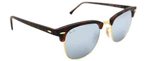 Ray-Ban Clubmaster RB 3016 1145/30 Havana/light Green Mirror Silver - Clubmaster Rayban 3016 Rb