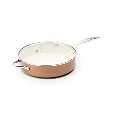 Trisha Yearwood Royal Precious Metals 5 Quart/12 Inch Jumbo Sautepan, Copper