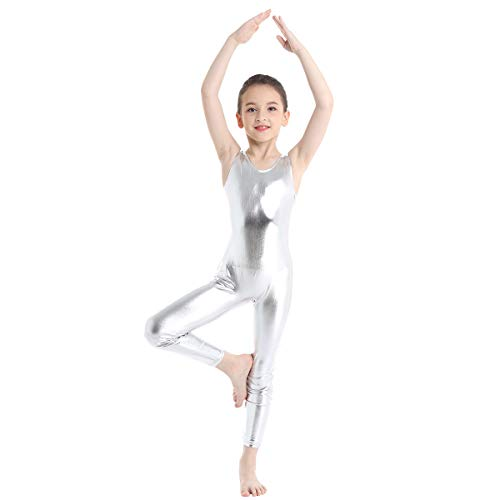 Home Adult Summer Gymnastics Competition Clothing Metallic Unitard Shiny Spandex Leather False Look Wet Catsuit Dance Jumpsuit Woman Matching In Colour