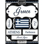 Discover Greece Cardstock Scrapbook Stickers (19438) (Greece Vacation)