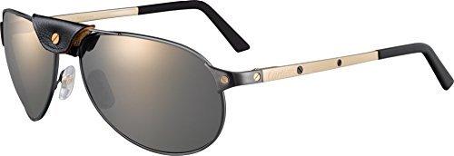 Cartier - Gafas de sol - para hombre plateado negro: Amazon ...