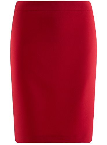 Rouge Droite Jupe 4500n Collection Femme Basique Coupe oodji AXYqF