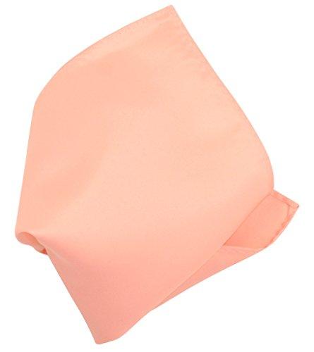 (PEACH Color Scarf Hankerchief Pocket Square Hanky Men's Handkerchiefs)