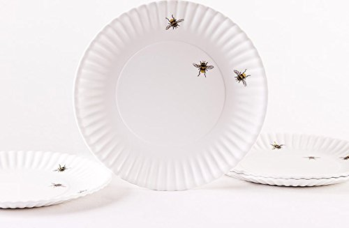 Bees 9'' Melamine Plates, Set of 4 by One Hundred 80 Degrees (Image #1)